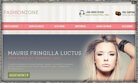 Framed ecommerce website example