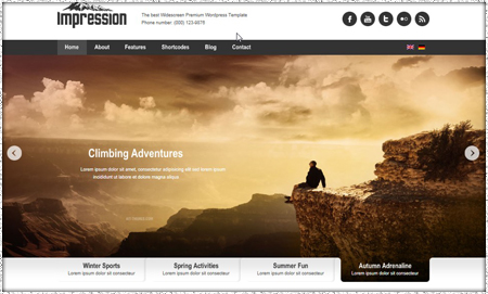Example of business website image