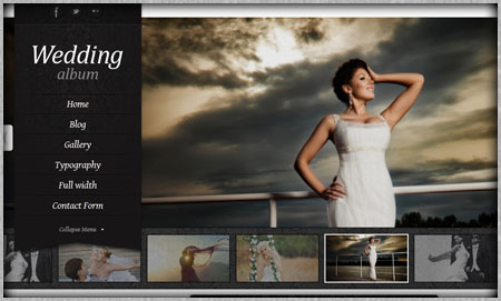 High quality wedding website