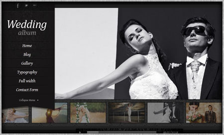 Stunning wedding website