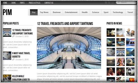 White Classy News Blog Site